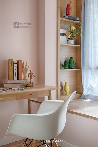 65平北欧风格装修书桌椅设计图