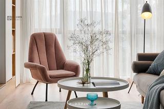 65平北欧风格装修粉色靠背椅设计图