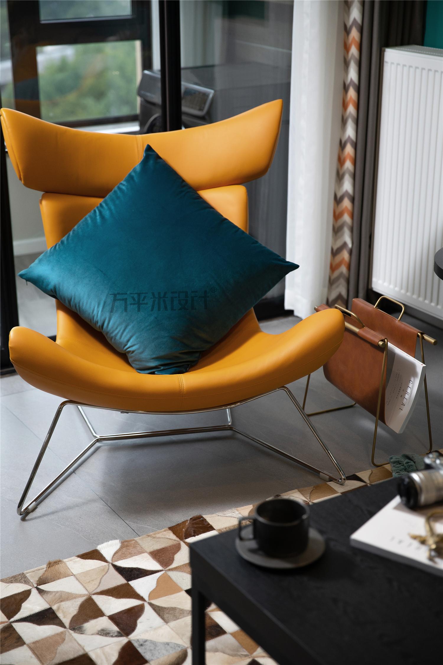 现代北欧二居装修躺椅设计图