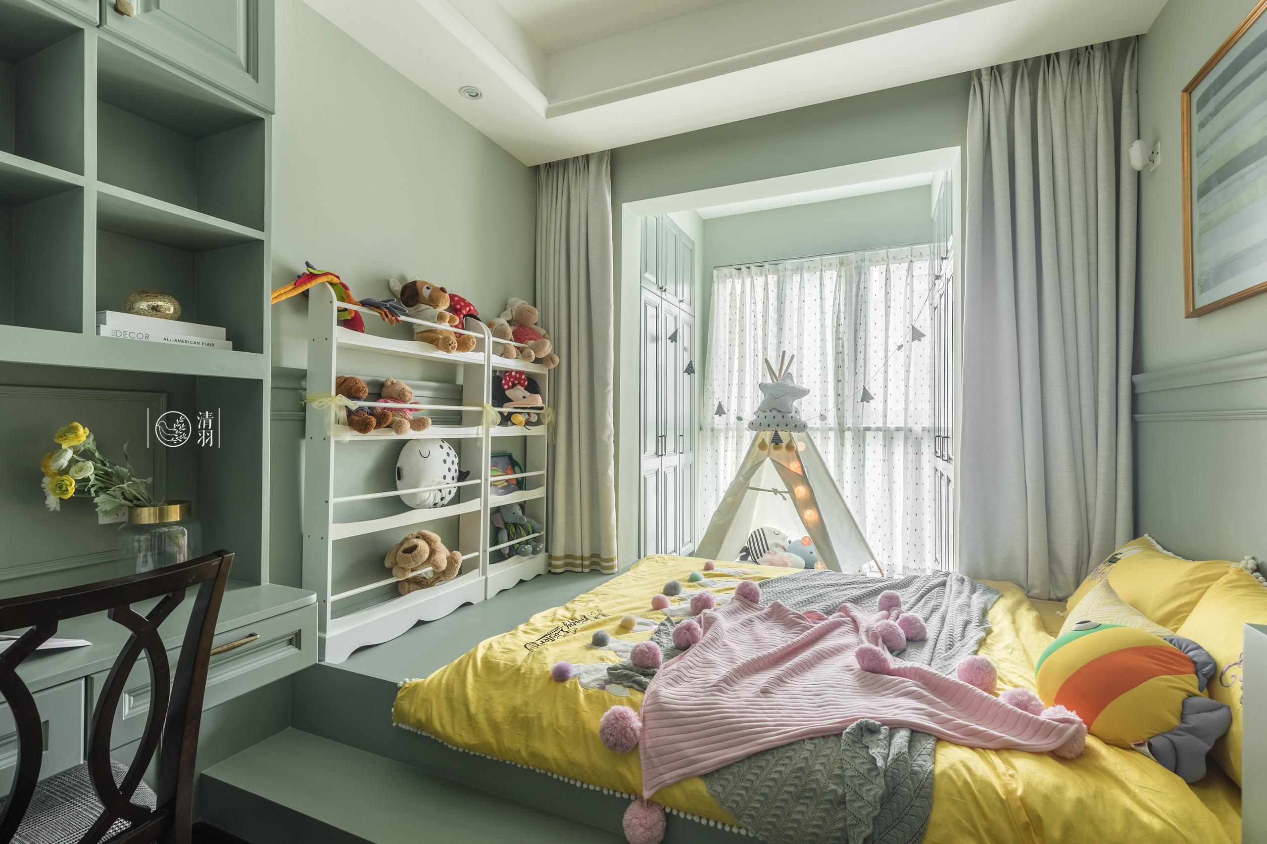 美式现代三居榻榻米儿童房装修效果图