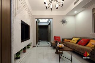 75平米三居室客厅装修效果图