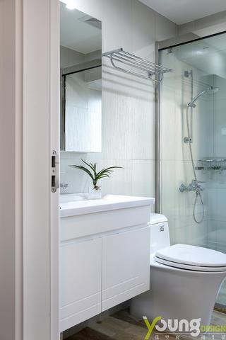 89㎡现代美式卫生间装修效果图