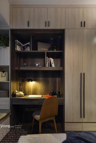 混搭风格三居室装修书桌柜设计