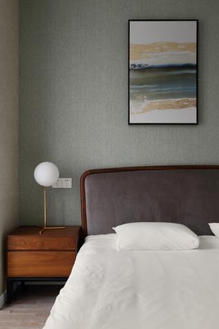 北欧风三居室装修床头一角
