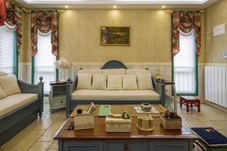 田园公寓装修沙发背景墙图片