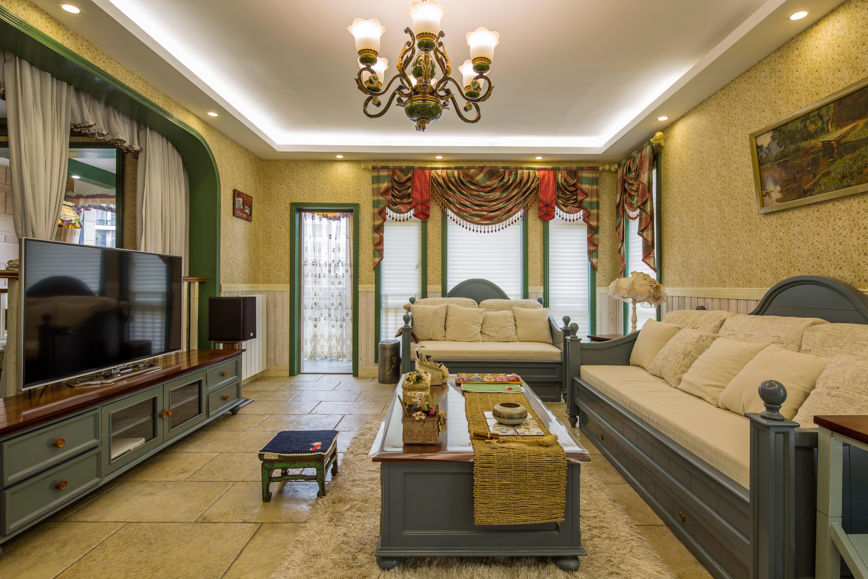 田园公寓装修客厅效果图