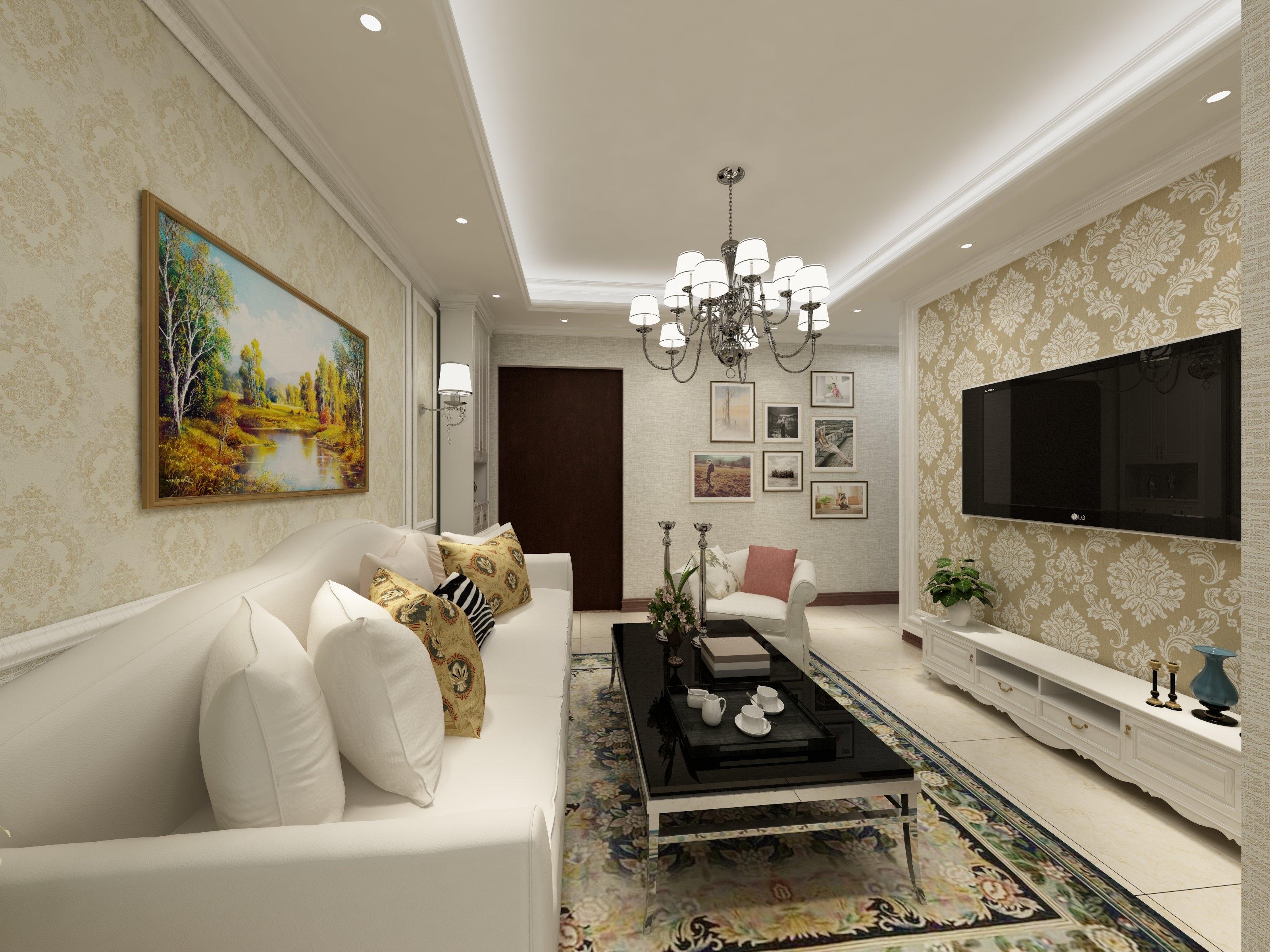 45平小户型清新之家客厅效果图