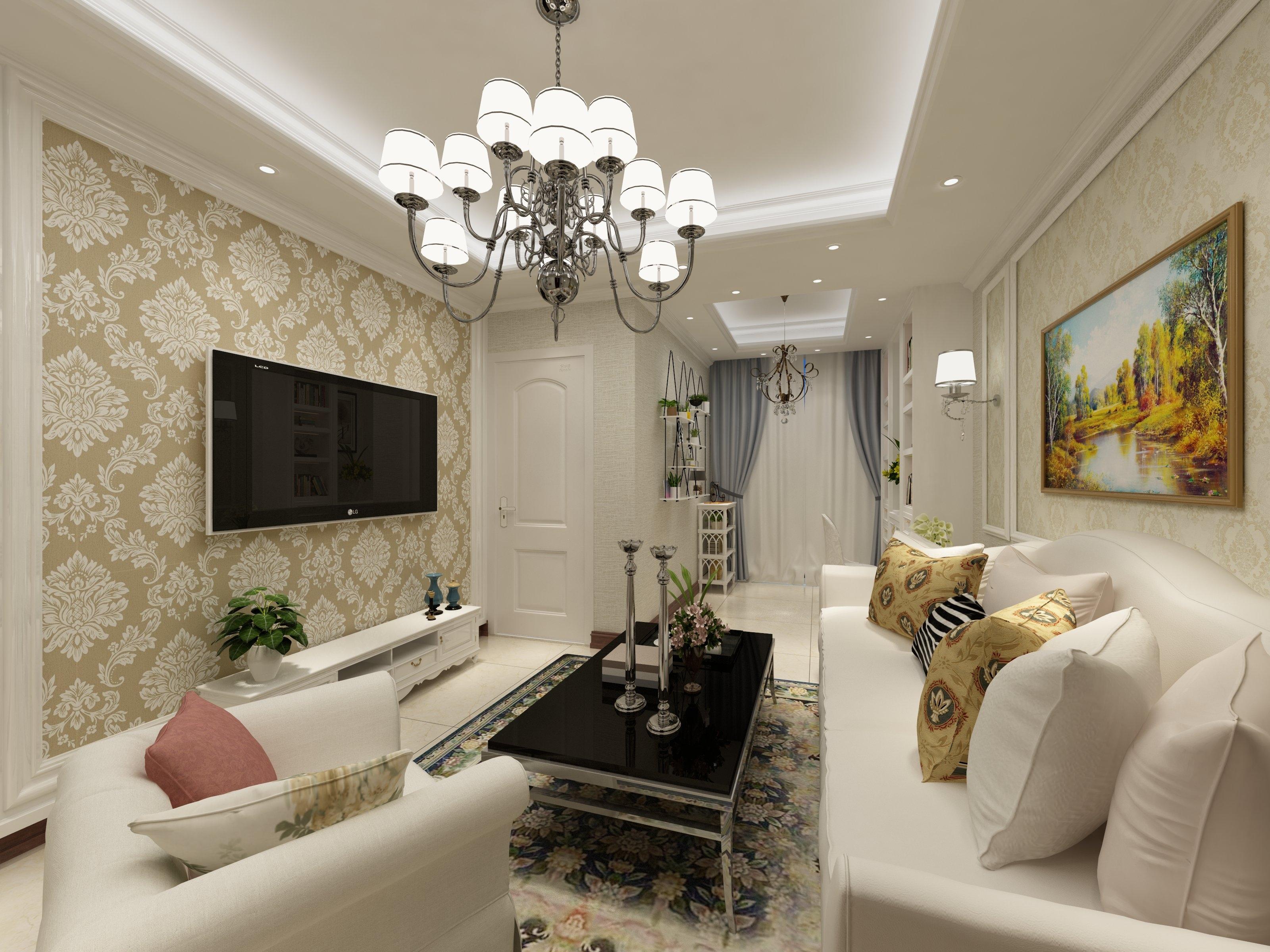 45平小户型清新之家电视背景墙图片