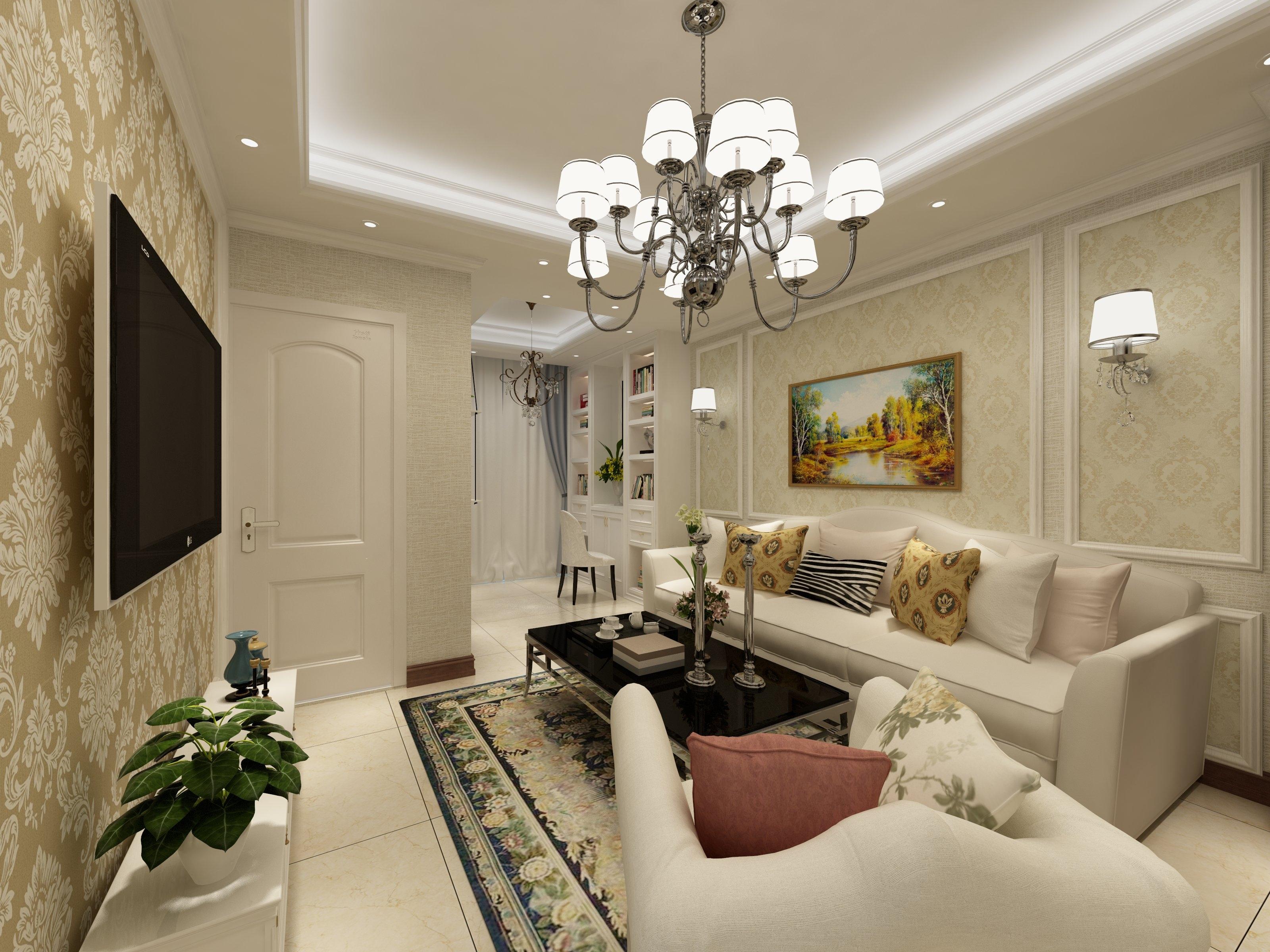 45平小户型清新之家沙发背景墙图片