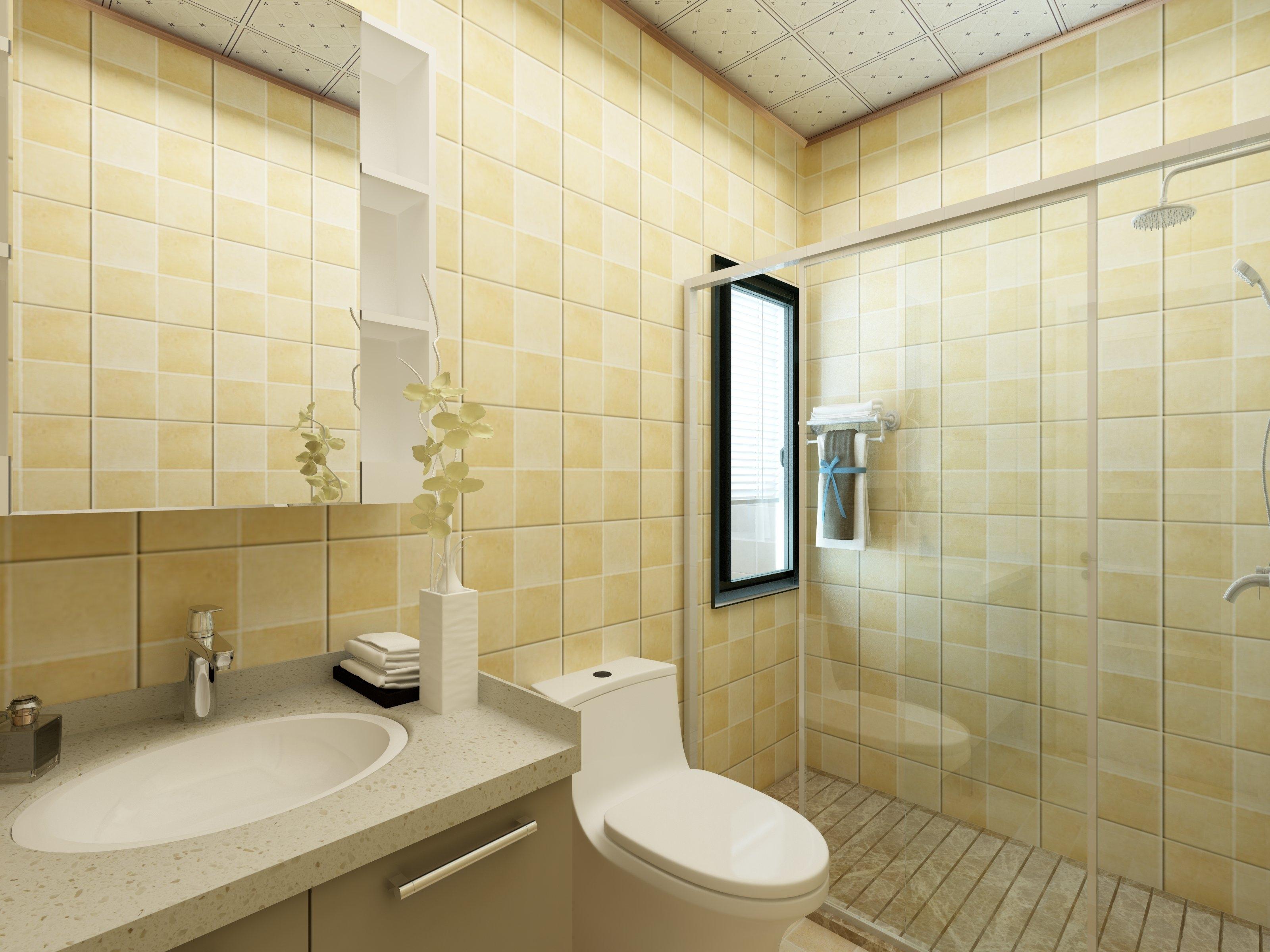 45平小户型清新之家卫生间装潢图