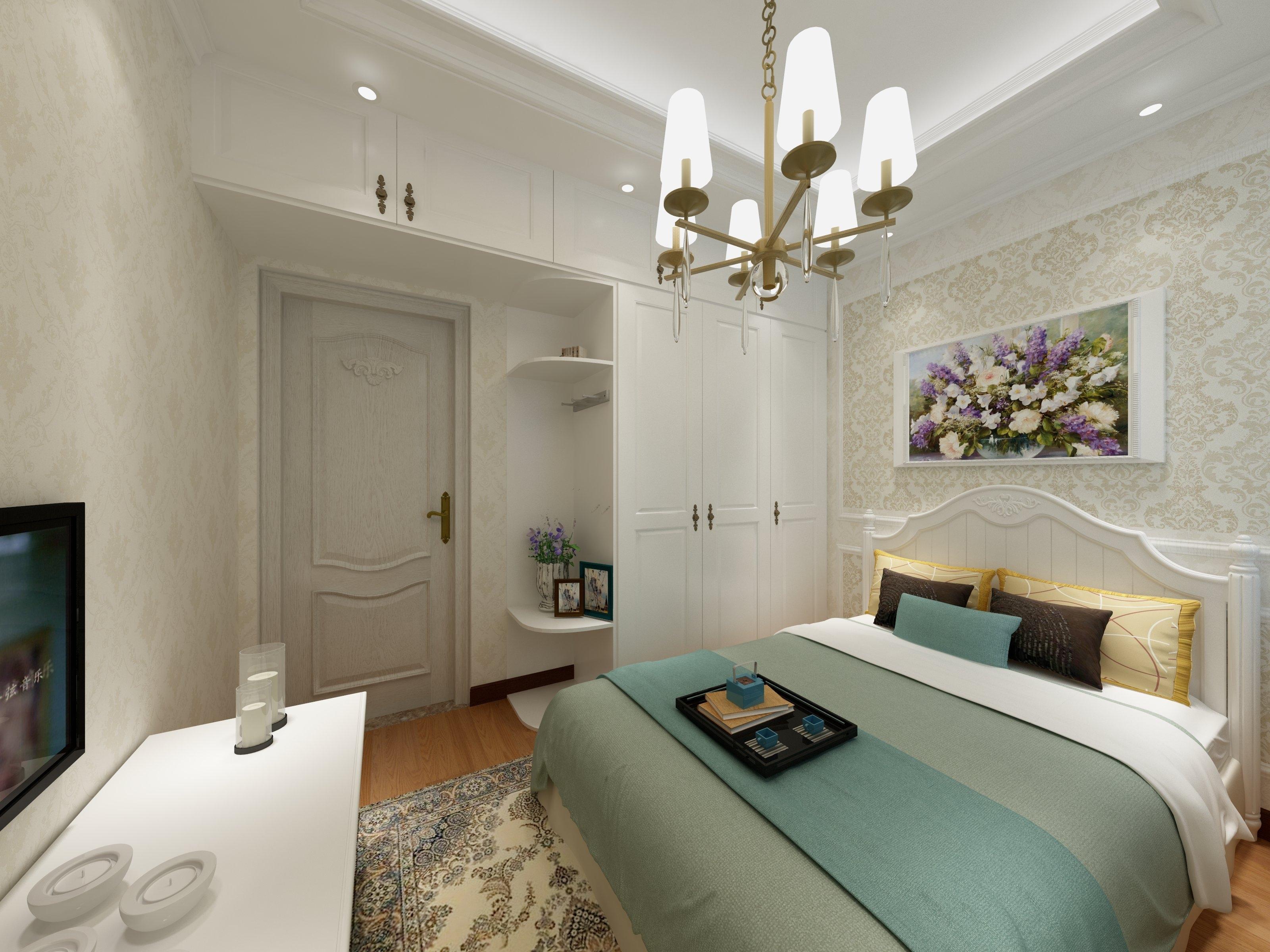 45平小户型清新之家卧室效果图