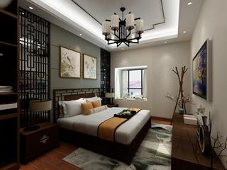 美式复式装修卧室设计图
