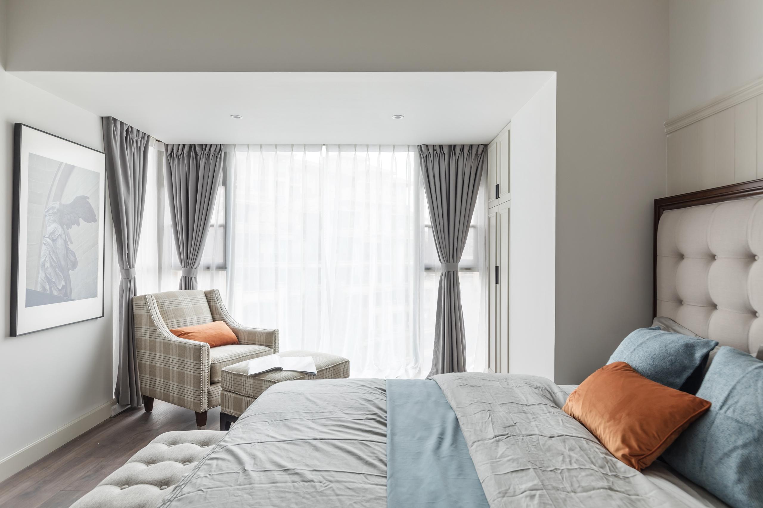 美式复式装修卧室效果图