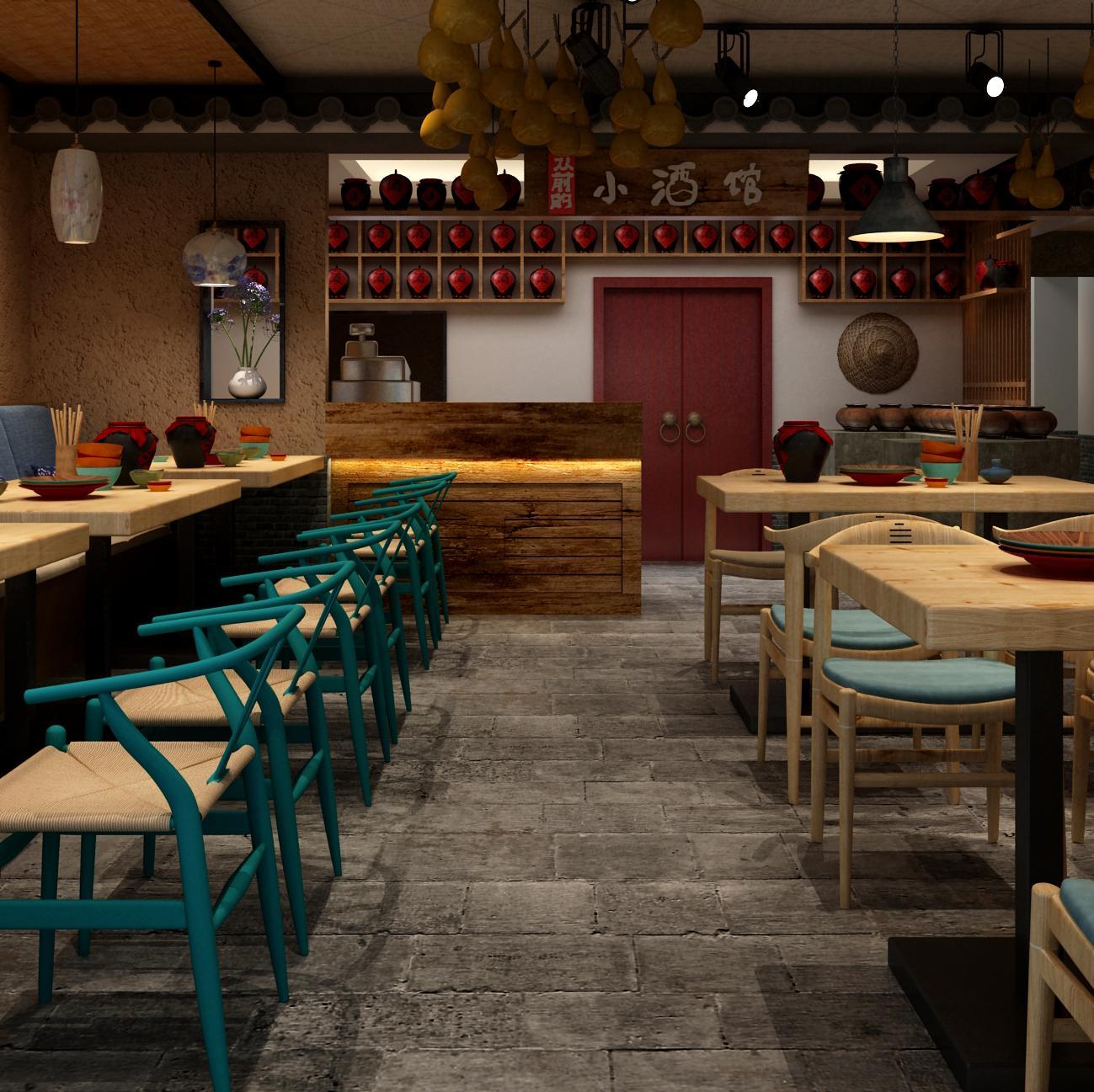 中式小酒馆装修设计
