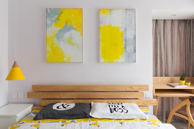 110平北欧风格家床头墙装饰画