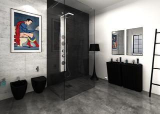 大户型loft风格装修卫生间效果图