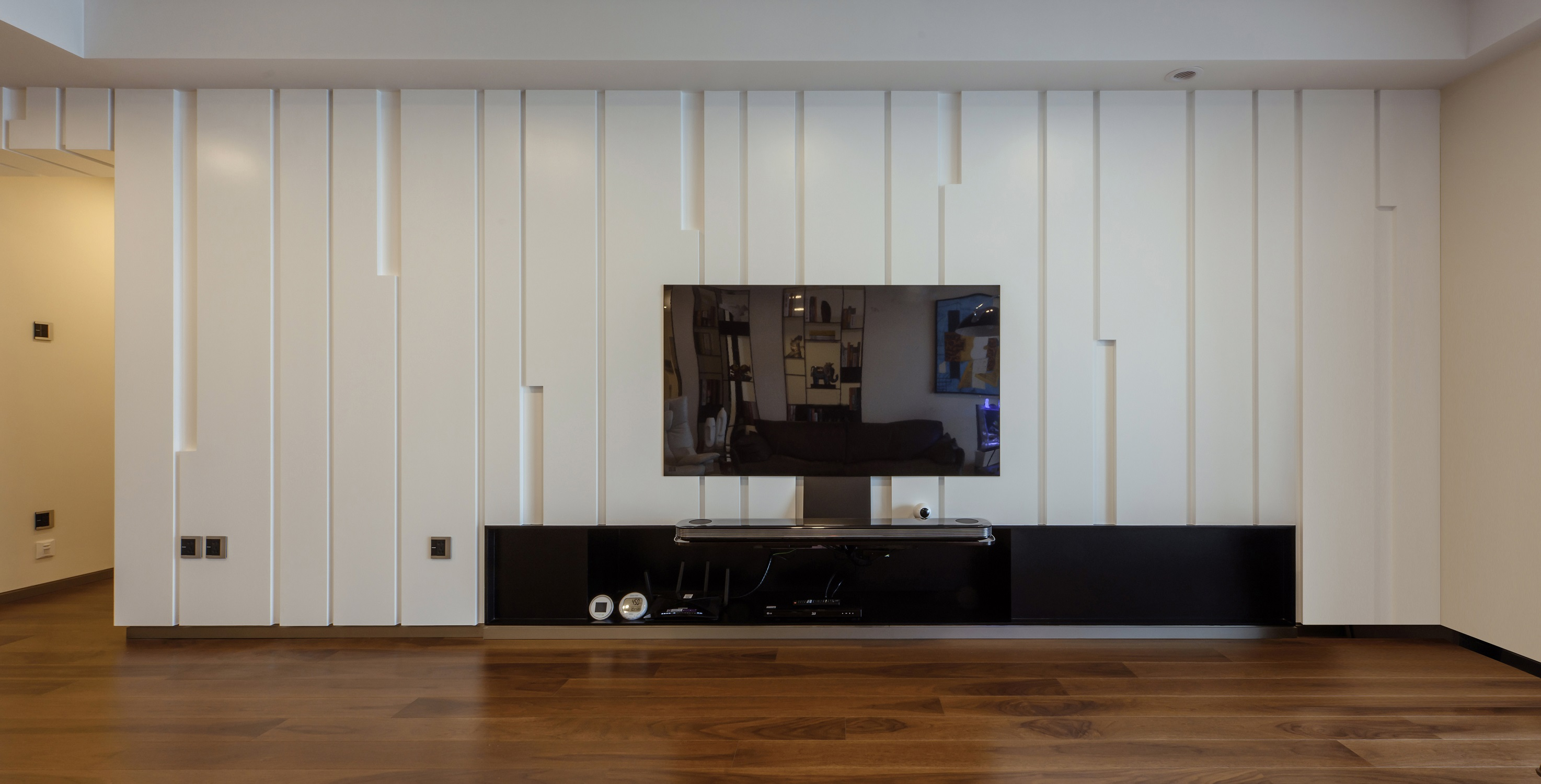 200㎡简约风设计电视背景墙图片