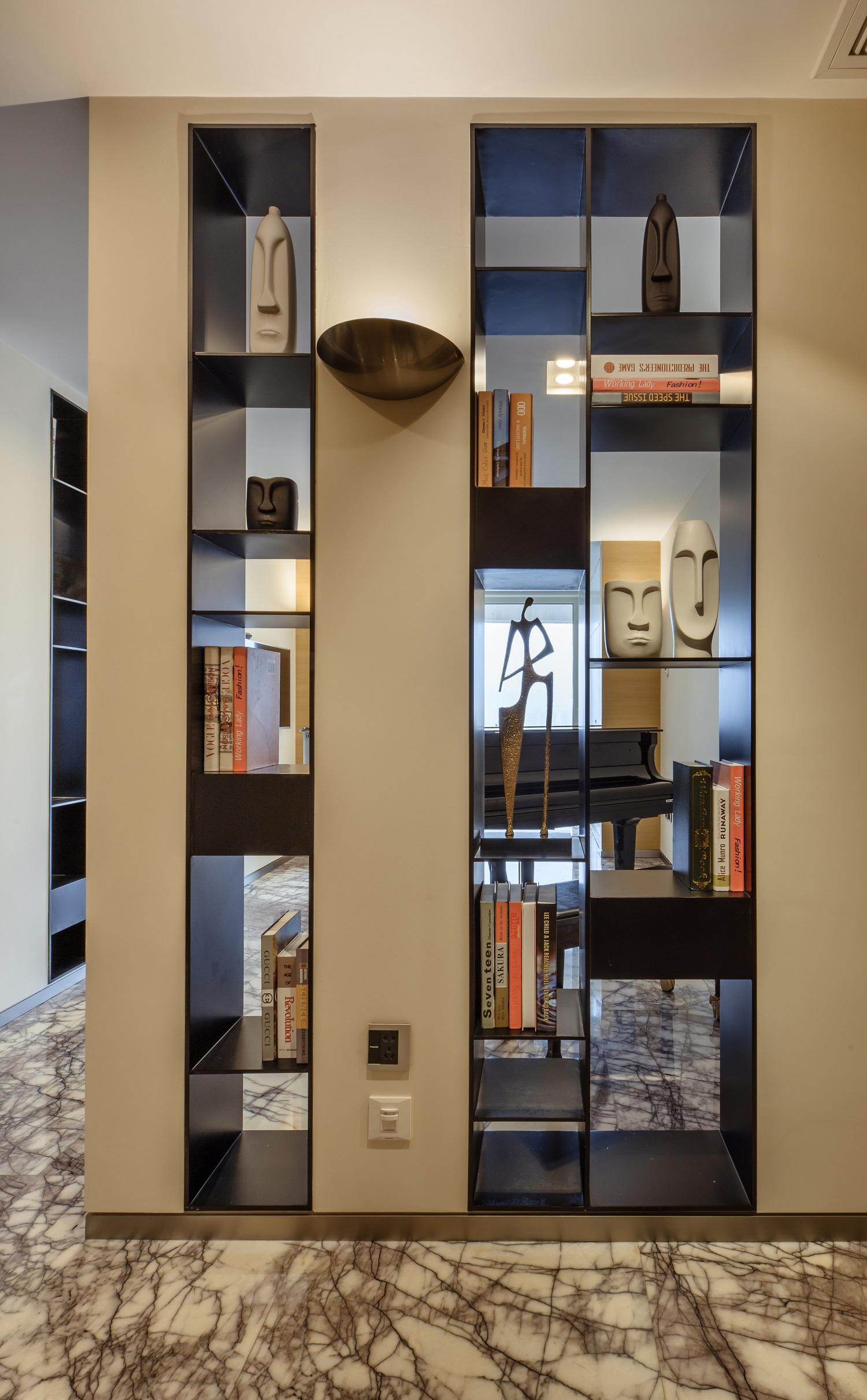 200㎡简约风设计门厅书架图片
