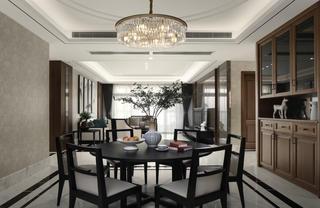 大户型中式装修餐桌椅图片