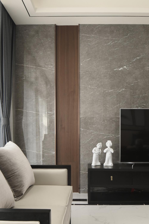 大户型中式装修电视背景墙图片