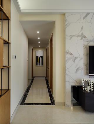 三居室现代风格装修玄关走廊