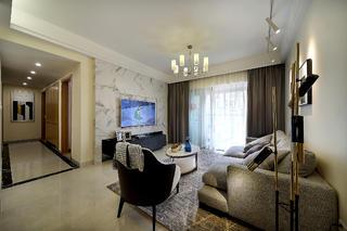 三居室現代風格裝修電視背景墻圖片