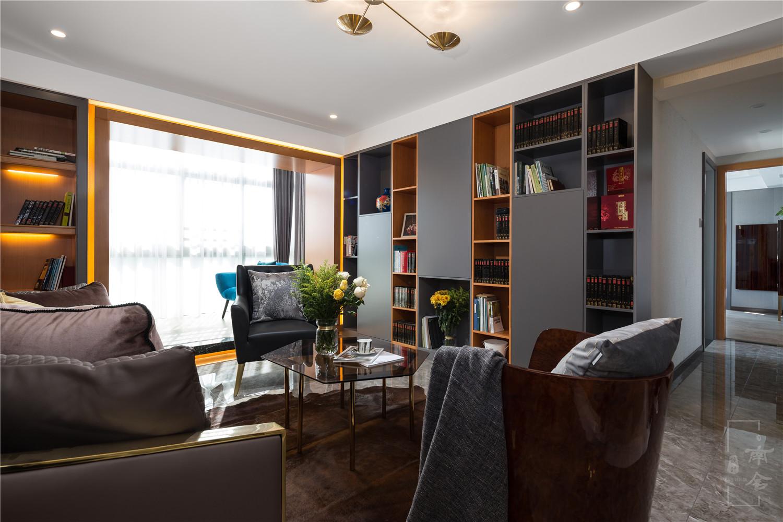 轻奢复式装修书房效果图
