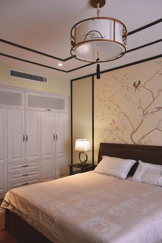130平新中式设计衣柜图片