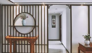 130平新中式设计走廊图片