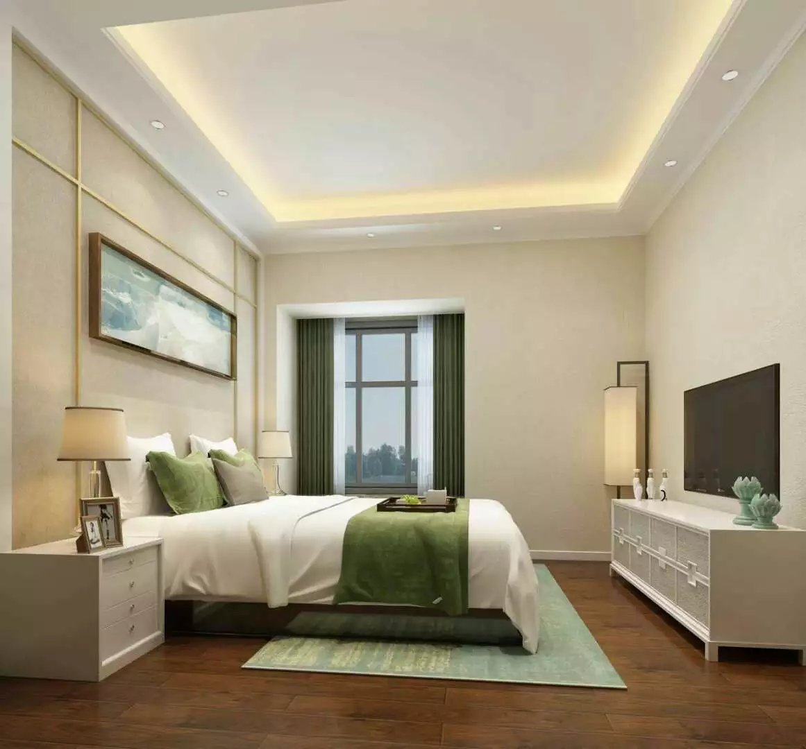 豪华中式装修卧室效果图