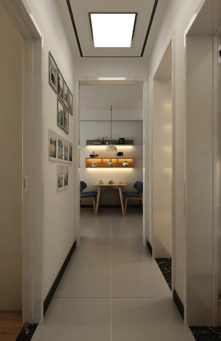 110平现代风格家餐厅一瞥