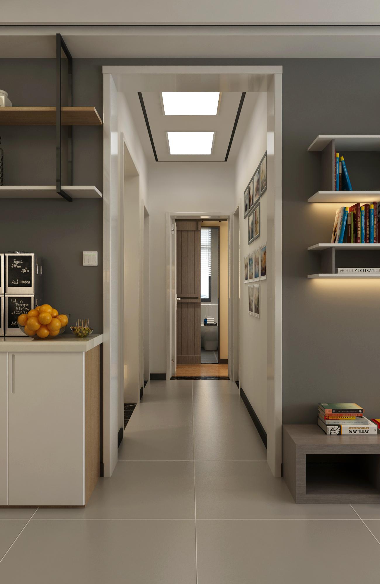 110平现代风格家走廊图片