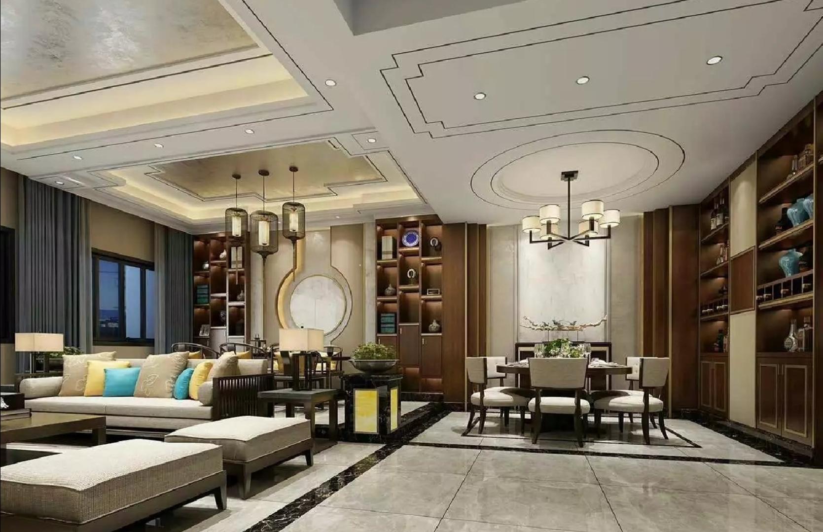 豪华中式装修餐厅设计图