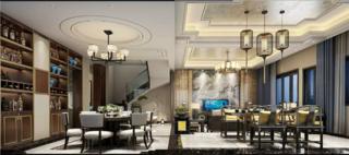 豪华中式装修客厅效果图