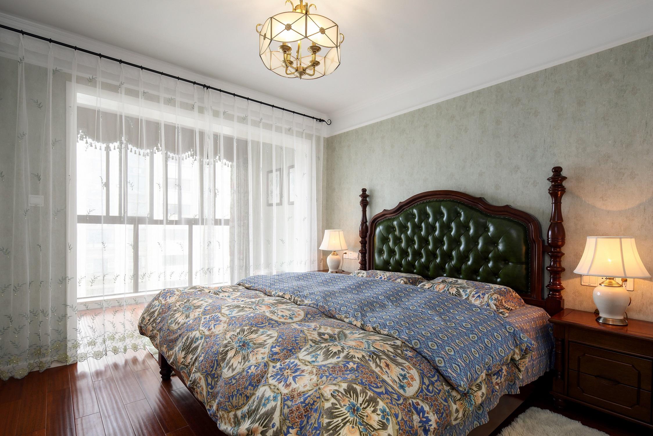 100㎡美式之家卧室效果图