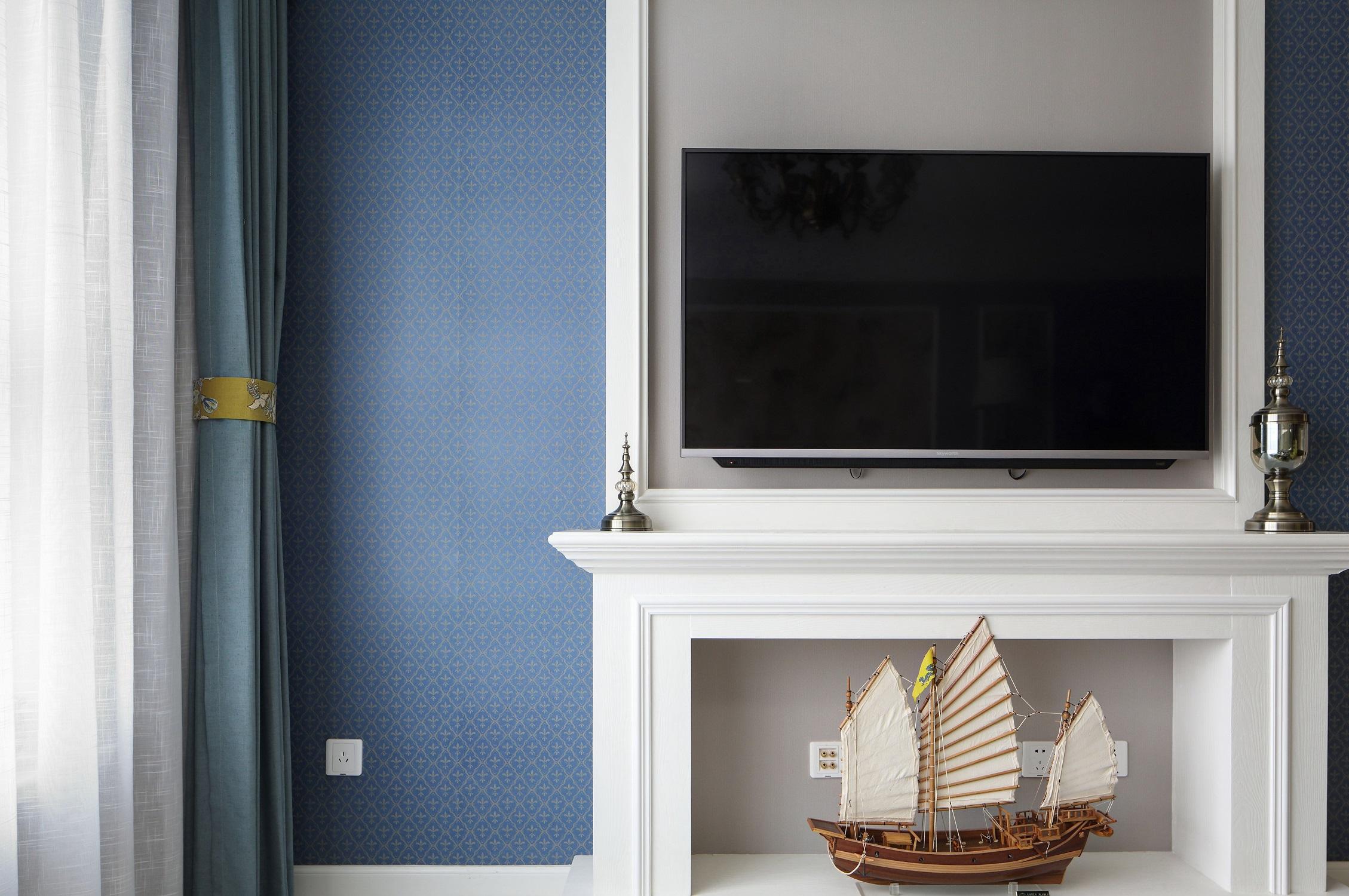 100㎡美式之家装饰壁炉图片