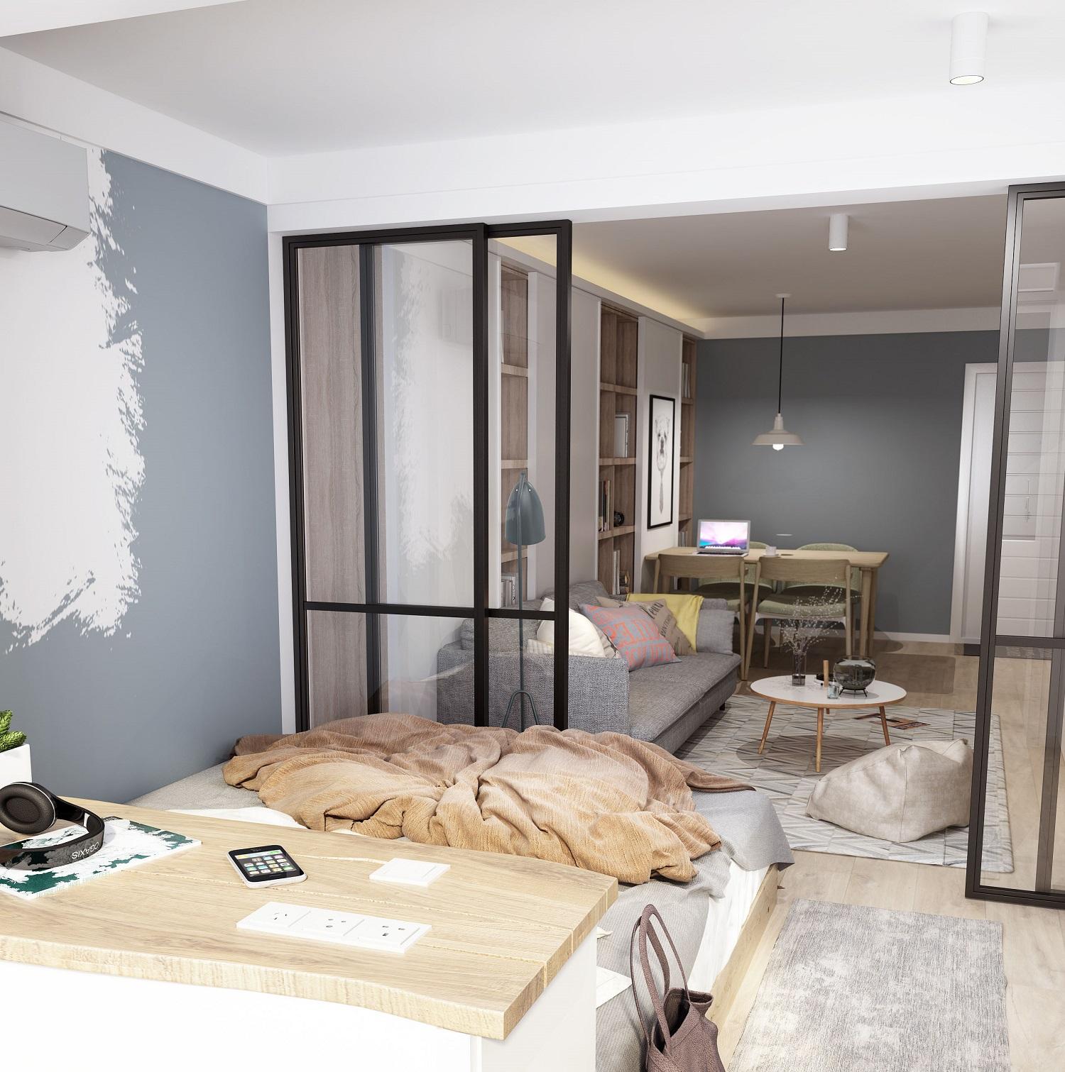 一字型小户型卧室设计图