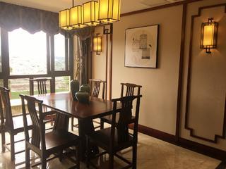 中式三居室装修餐厅布置图