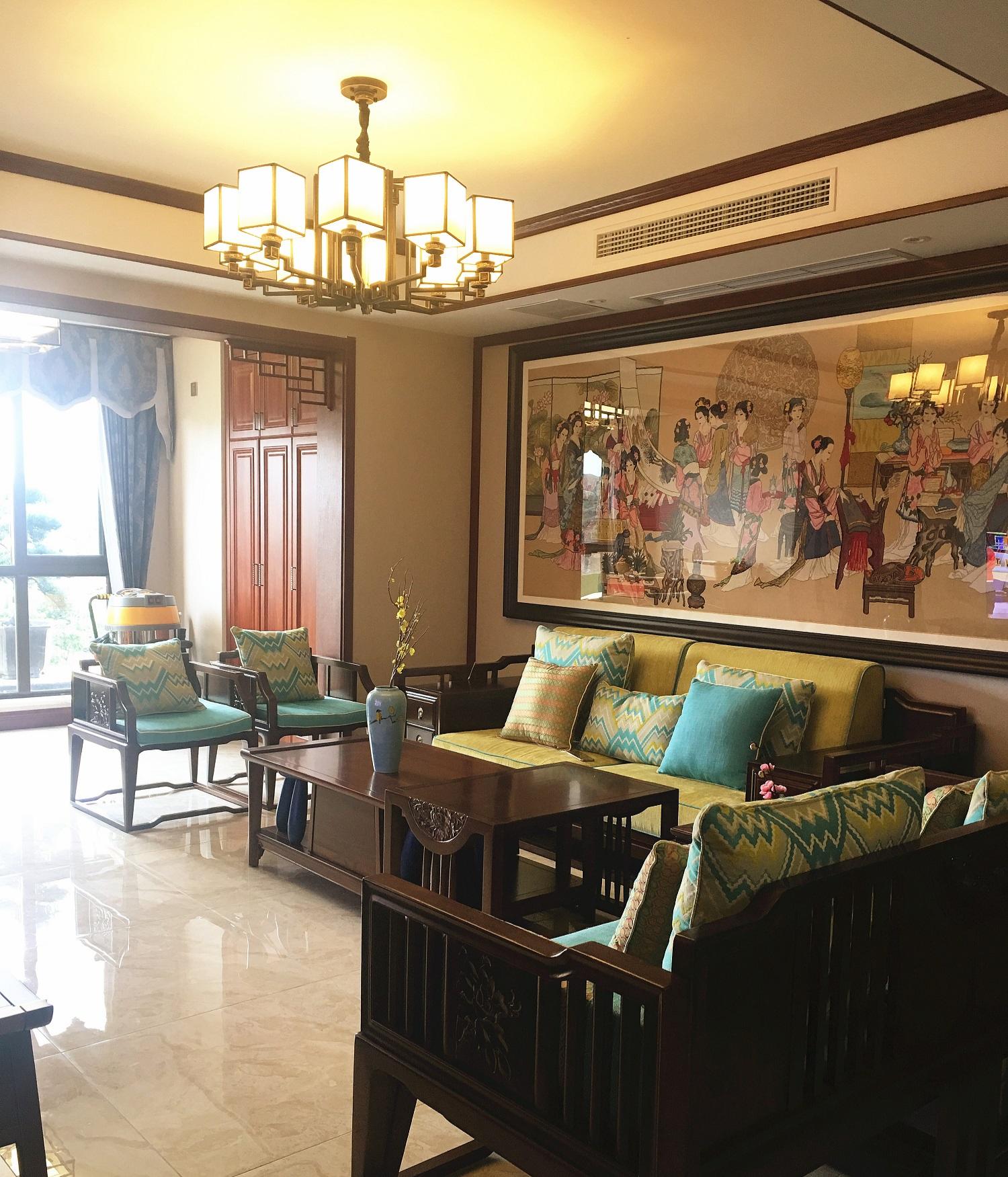 中式三居室装修效果图