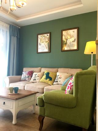 美式二居室装修沙发背景墙图片