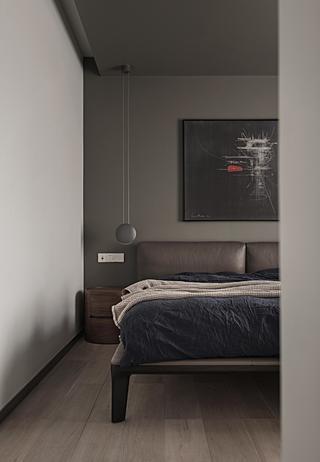 180平简约风格家卧室床头墙图片