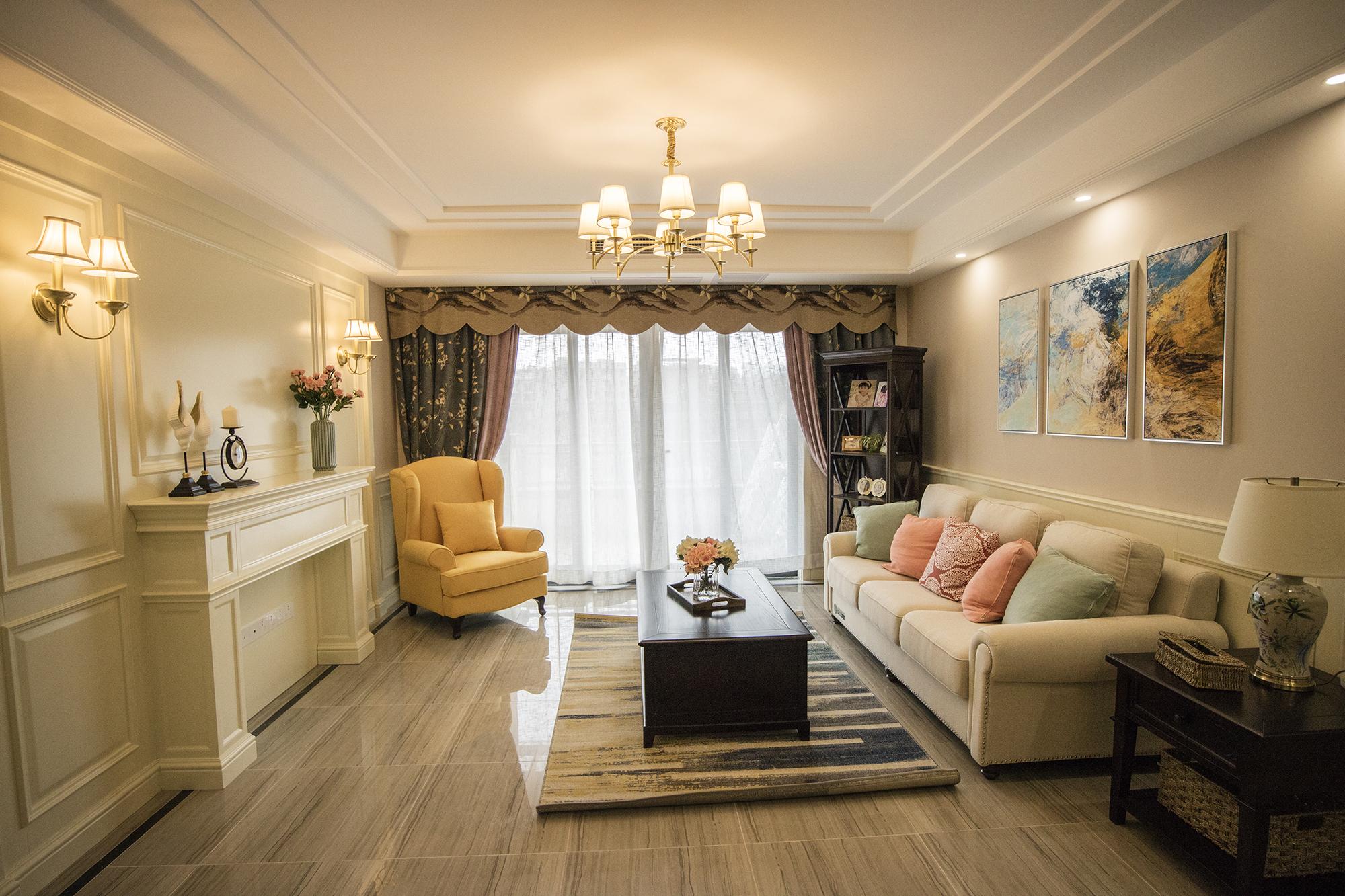 三居室复式装修客厅效果图