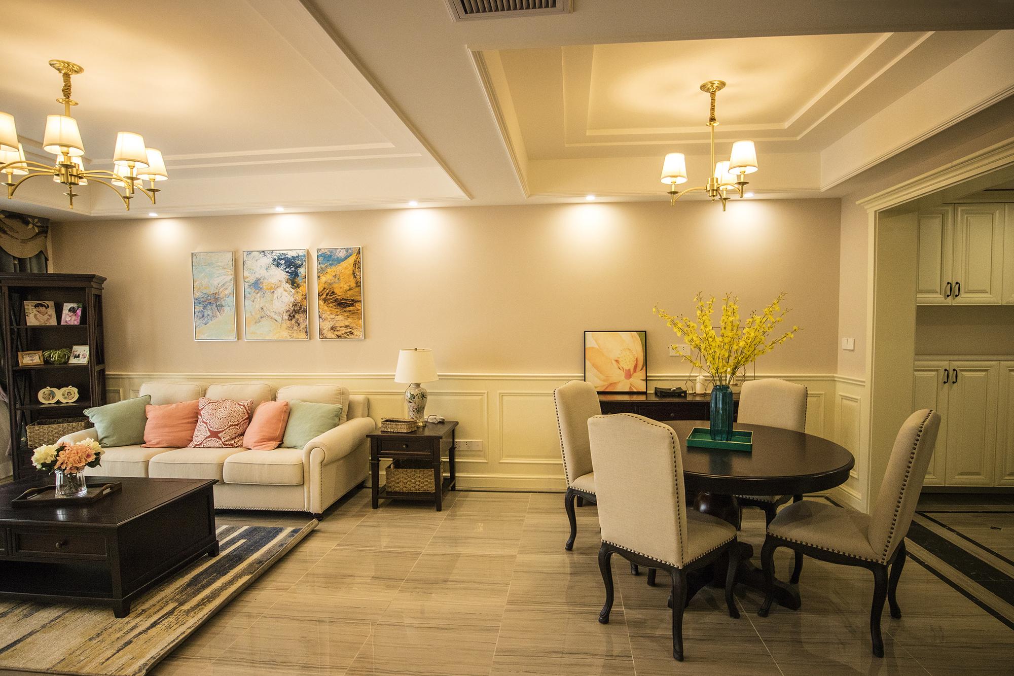 三居室复式装修客餐厅效果图