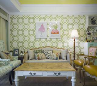 美式四居室装修卧室效果图