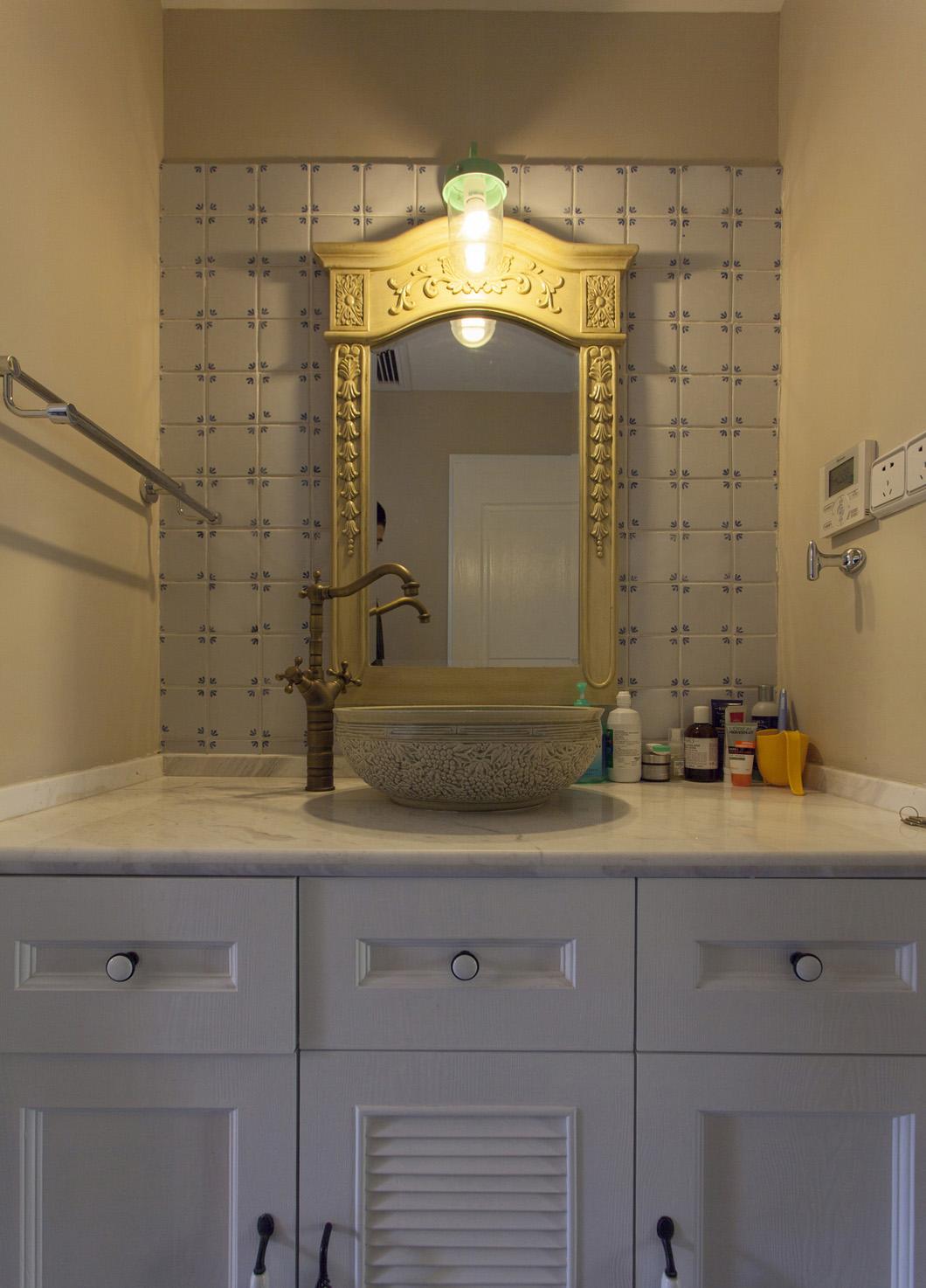 美式四居室装修洗手台图片