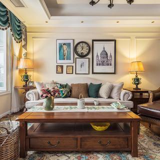 美式三居室装修设计 恬静温馨