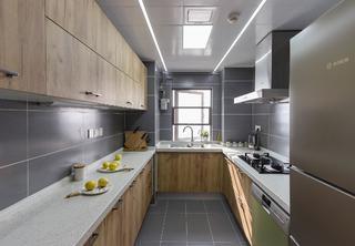 140平北欧风格家厨房构造图