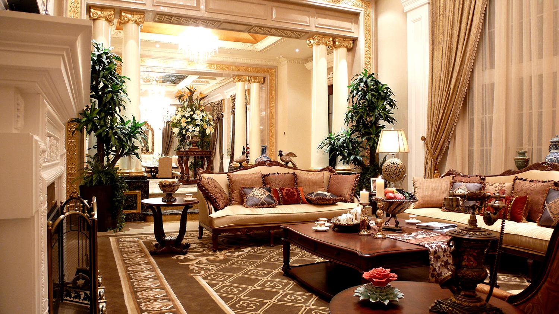 欧式别墅装修客厅欣赏图