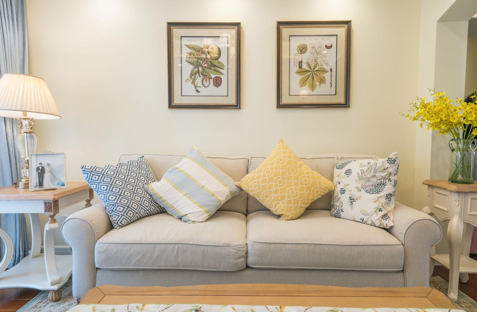 80平田园风格家沙发图片