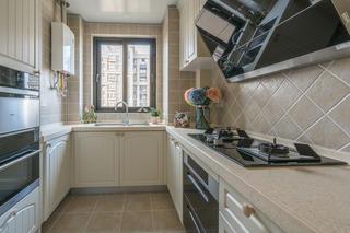 80平田园风格家厨房设计图